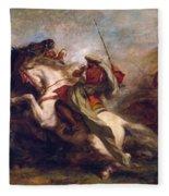 Collision Of Moorish Horsemen Fleece Blanket