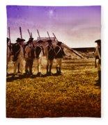 Colonial Soldiers At Fort Mifflin Fleece Blanket