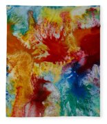 Color Abstracts Fleece Blanket