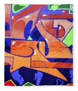 Colorful Abstract Street Art  Fleece Blanket
