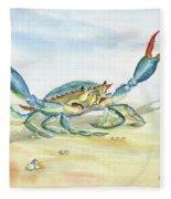 Colorful Blue Crab Fleece Blanket