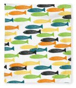 Colorful Fish  Fleece Blanket