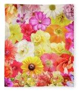 Colorful Floral Background Fleece Blanket