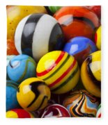 Colorful Marbles Fleece Blanket