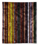 Colorful Vertical Stripes Background In Vintage Retro Style Fleece Blanket