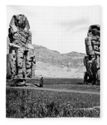 Colossi Of Memnon, Valley Of The Kings Fleece Blanket