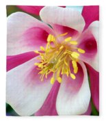 Columbine Flower 1 Fleece Blanket