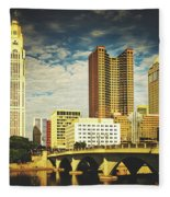 Columbus Ohio Fleece Blanket