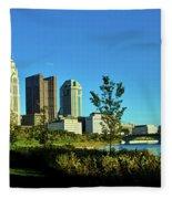 Columbus Ohio Panorama Fleece Blanket