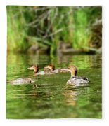 Common Merganser Fleece Blanket