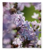 Common Purple Lilac Fleece Blanket