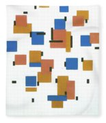 Composition With Colours Fleece Blanket