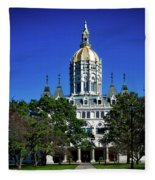 Connecticut State Capitol Fleece Blanket