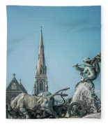 Copenhagen Gefion Fountain Fleece Blanket