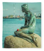 Copenhagen Little Mermaid Fleece Blanket