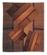 Copper Plate Abstract Fleece Blanket
