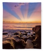 Coral Cove Fleece Blanket