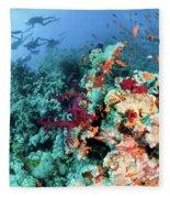 Coral Reef  Fleece Blanket
