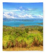 Costa Rica Landscape Fleece Blanket