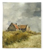 Cottage In The Dunes Fleece Blanket