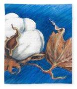 Cotton Picking Blues Fleece Blanket