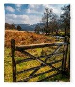 Countryside Gate Fleece Blanket