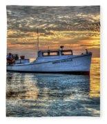 Crabbing Boat Donna Danielle - Smith Island, Maryland Fleece Blanket