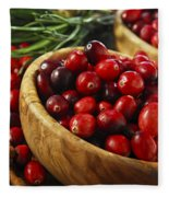 Cranberries In Bowls Fleece Blanket