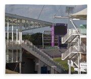 Cricket Ground Southampton Fleece Blanket