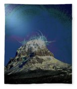 Crowsnest Mountain  Fleece Blanket