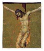 Crucifixion Fragment 1311  Fleece Blanket