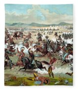 Custer's Last Stand Fleece Blanket