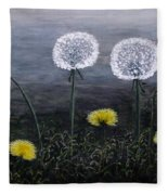 Dandelion Family Fleece Blanket