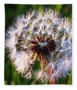 Dandelion In Nature Fleece Blanket