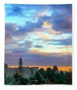 David Tower At Sunset  Fleece Blanket