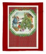 Decorating The Tree Fleece Blanket