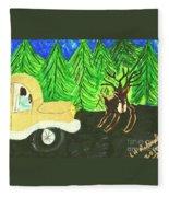Deer Crossing Fleece Blanket