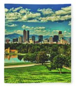 Denver City Park Fleece Blanket
