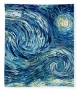Detail Of The Starry Night Fleece Blanket