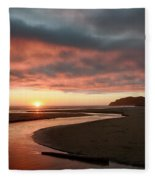 Devils Kitchen Sunset Fleece Blanket