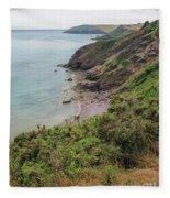 Devon Coastal View Fleece Blanket