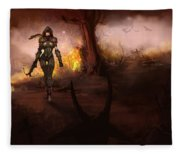 Diablo IIi Fleece Blanket
