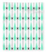 Diamonds In Aqua Fleece Blanket