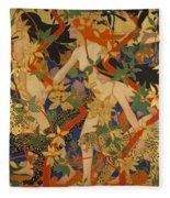 Diana And Her Nymphs Fleece Blanket