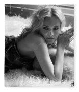 Diane Kruger Fleece Blanket