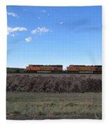 Diesel Train Engines Fleece Blanket