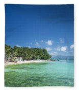 Diniwid Beach In Tropical Paradise Boracay Philippines Fleece Blanket