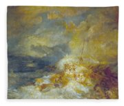Disaster At Sea Fleece Blanket
