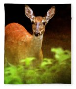 Doe Eyes Fleece Blanket