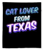 Dog Lover From Texas Fleece Blanket